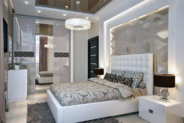 фото интерьера спальни в стиле модерн
