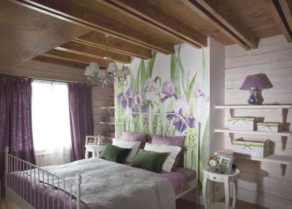 красивая спальня в стиле прованс