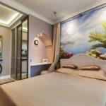 интересный вариант стиля спальни