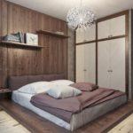 использование встроенного шкафа в спальне
