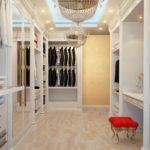 изготовление гардеробной для спальни