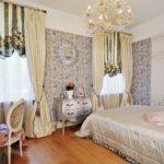 красивое оформление спальни в классическом стиле