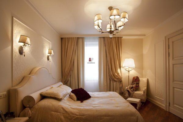 современное оформление спальни в классическом стиле