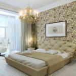 классический стиль спальни после ремонта