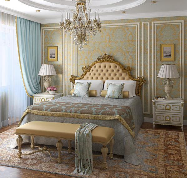 фото красивой спальни в классическом стиле