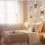 кровать с изголовьем в спальне