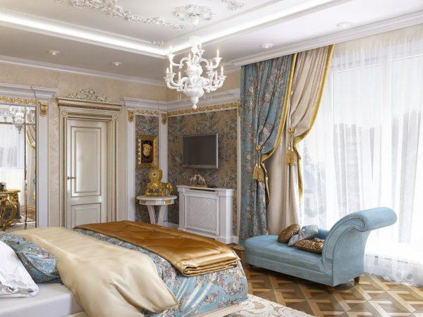 красивые шторы в интерьере спальни