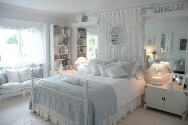 необычный дизайн спальни в стиле прованс