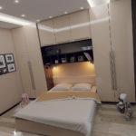 бежевая маленькая спальня