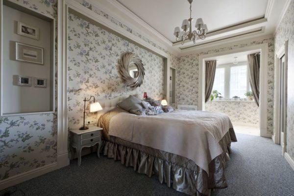 фото необычного дизайна спальни в стиле прованс