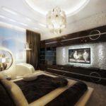 креативное оформление спальни в стиле модерн