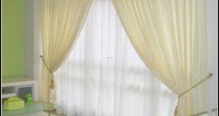 кремовые шторы в спальню