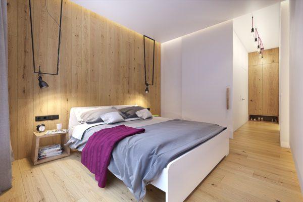 лаконичное оформление спальни в скандинавском стиле