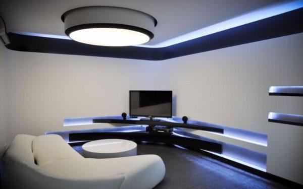 люминесцентная подсветка для натяжного потолка