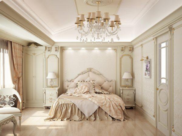 люстра в классическом стиле для спальни