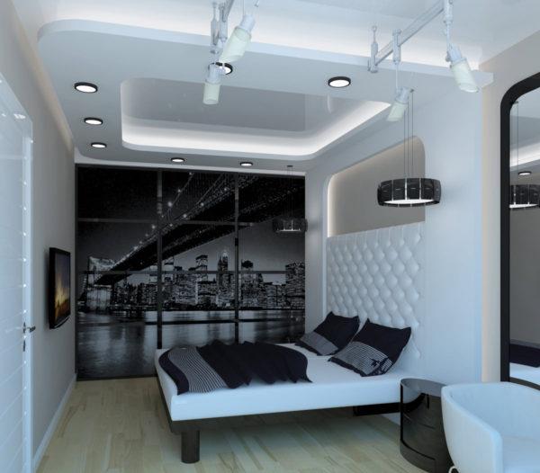 маленькая спальня в стиле хай-тек
