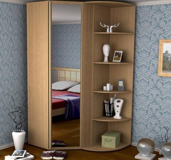 маленький угловой шкаф-купе в спальню