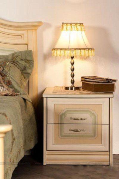 необычный дизайн прикроватной тумбочки в спальню