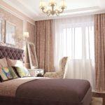 модные шторы в интерьере спальни