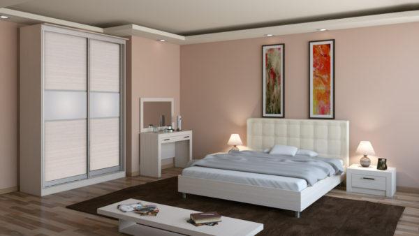 небольшой шкаф-купе в спальню с картинами
