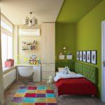 оформление светлой детской спальни