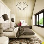 лаконичный интерьер спальни в скандинавском стиле