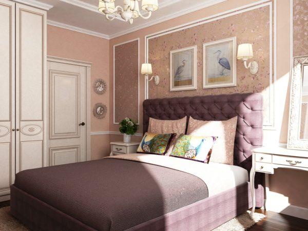 роскошный дизайн спальни в стиле прованс