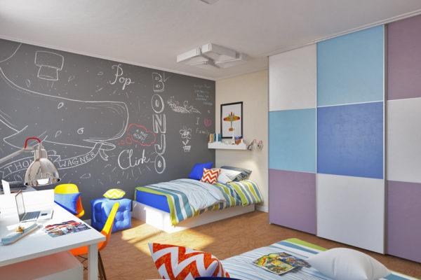 фото оформления детской спальни