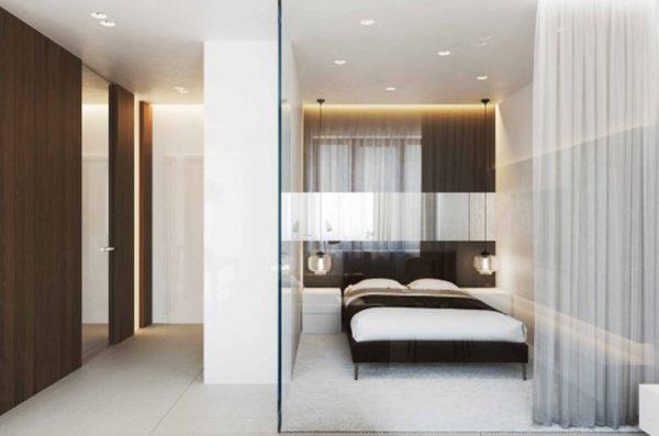 лаконичное оформление маленькой спальни