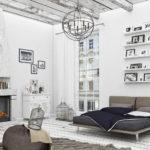 необычное оформление спальни в скандинавском стиле