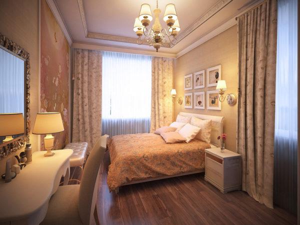 роскошное оформление спальни в стиле прованс