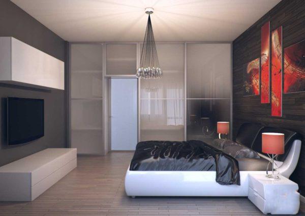 новый дизайн спальни в стиле хай-тек