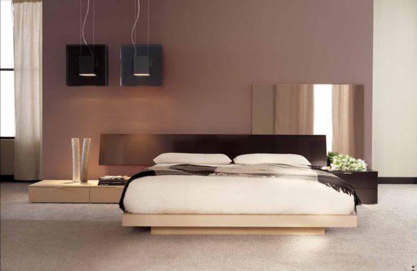 новый интерьер спальни в стиле хай-тек