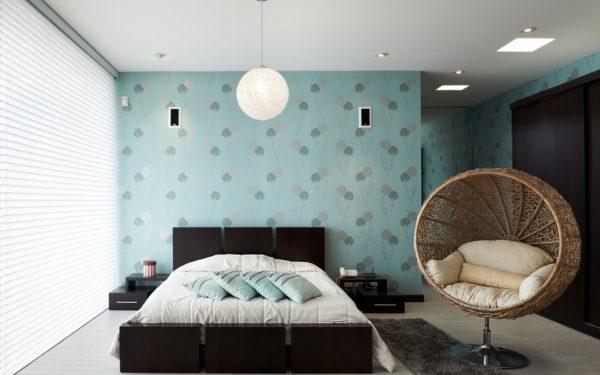фото обоев в спальню под цвет квартиры