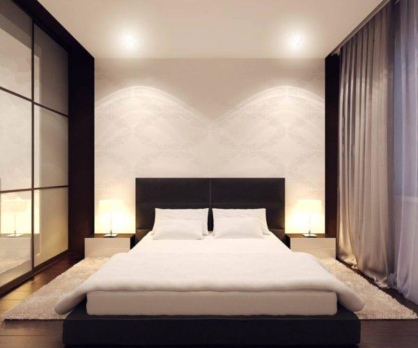 обои в спальню стиль минимализм