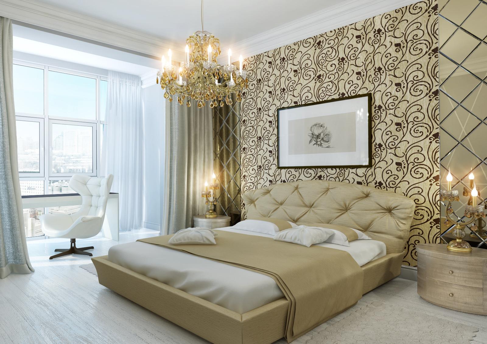 Спальня дизайнобои