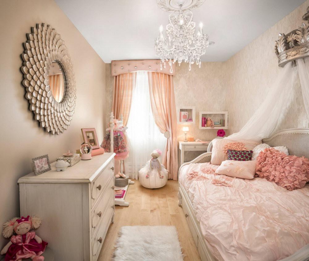 Дизайн спальни детской для девочки 2017 современные идеи