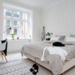 традиционная комната спальня в скандинавском стиле