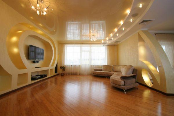 фото. оформление помещения жилой комнаты