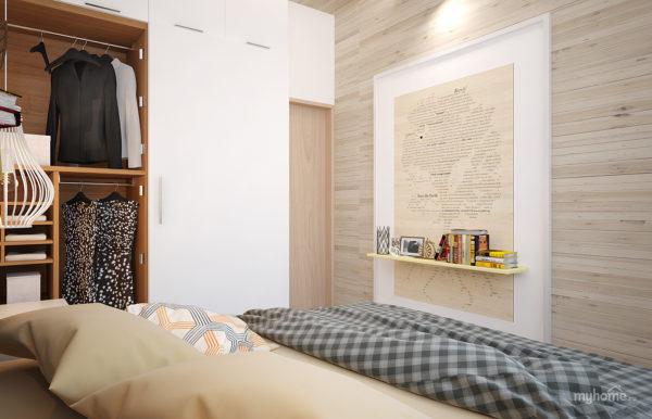 красивая спальня в скандинавском стиле