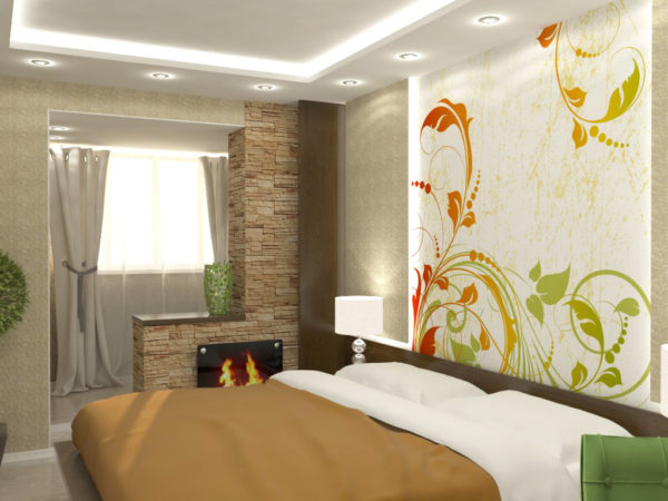 красивое оформление комнаты маленькой спальни
