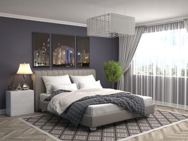 фото оригинальной хрустальной люстры в спальню