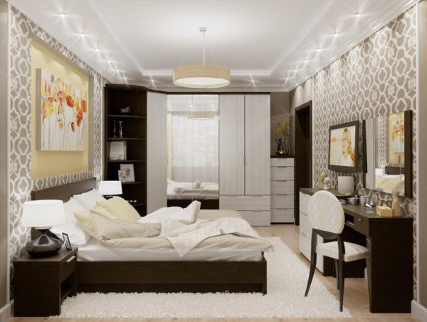красивый дизайн мебели в спальне