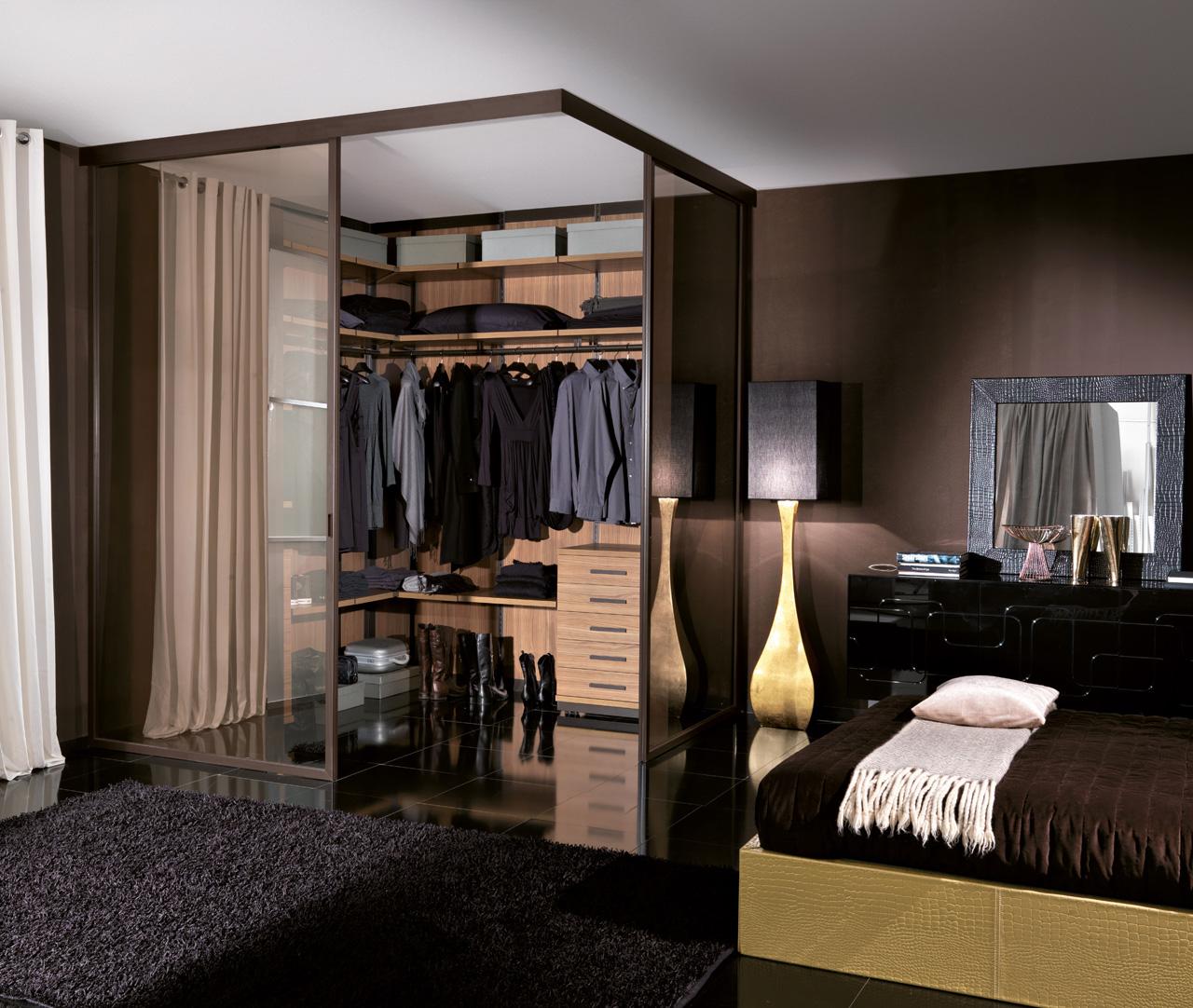 Гардеробная в спальне - как оформить, рекомендации и вариант.