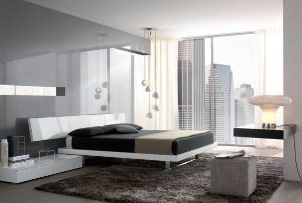 фото оригинального дизайна спальни в стиле хай-тек