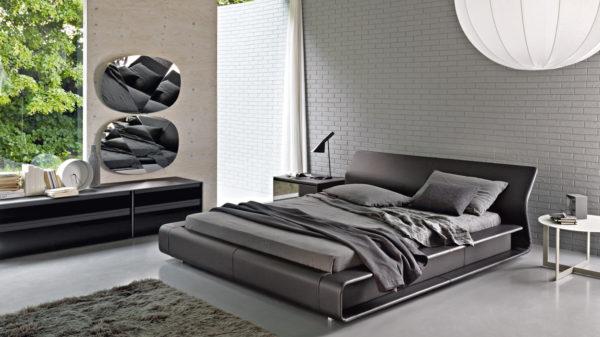 фото оригинального интерьера спальни в стиле хай-тек