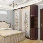 оригинальные шкафы-купе в спальню