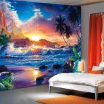 пейзажи на обоях в спальне