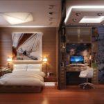 просторная спальня после ремонта