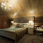 ремонт спальни на чердаке